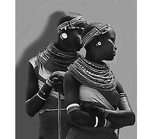Portrait of Samburu Girls in B&W Photographic Print