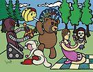 Teddy Bear And Bunny - Remote Control by Brett Gilbert