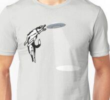 Banksy Style Dog Catching Frisbee (flying saucer) Unisex T-Shirt