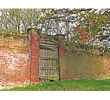 Gate in Wall Photographic Print