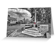 Yalding War Memorial Greeting Card
