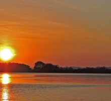 Sunset on the Ord River, Kimberley, Western Australia Sticker