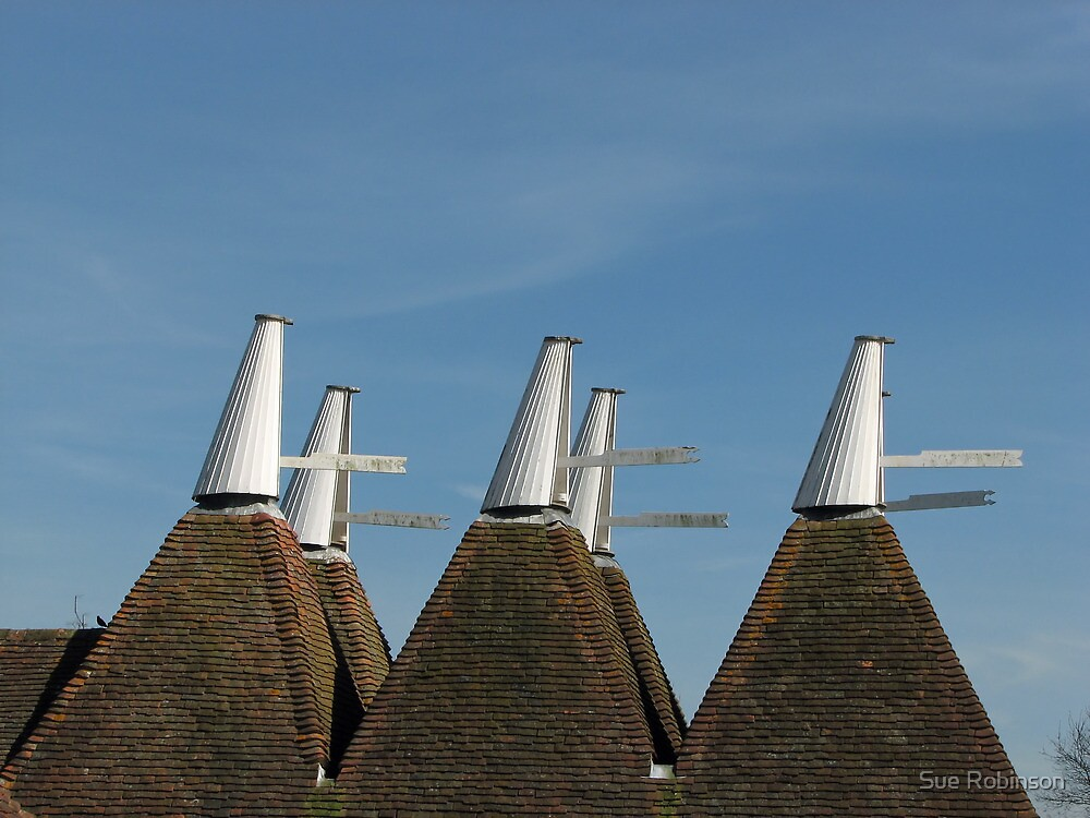 Oast House Cowls by Sue Robinson