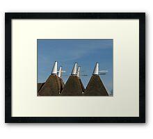 Oast House Cowls Framed Print
