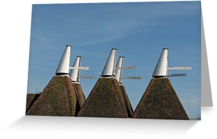 Oast House Cowls by Sue Robinson