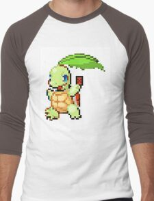Pokemon and YuGiOh combined into a sprite Men's Baseball ¾ T-Shirt