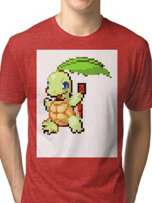Pokemon and YuGiOh combined into a sprite Tri-blend T-Shirt