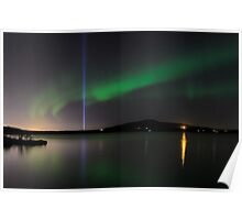 Auroras and the Imagine Peace Tower Poster