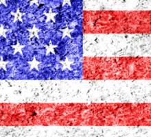 American Flag Grunge  Sticker