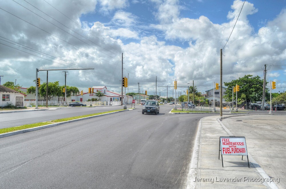 Intersection between Fox Hill Road and Prince Charles Drive in Nassau, The Bahamas by Jeremy Lavender Photography