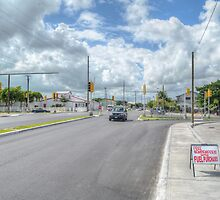 Intersection between Fox Hill Road and Prince Charles Drive in Nassau, The Bahamas by 242Digital