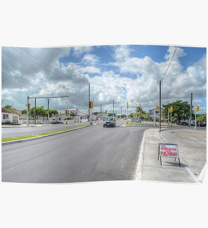 Intersection between Fox Hill Road and Prince Charles Drive in Nassau, The Bahamas Poster