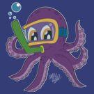 The Snorkeling Octopus  by DrewBird