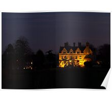 Country House Floodlit Poster