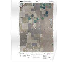 USGS Topo Map Washington State WA Ritzville SE 20110401 TM Poster