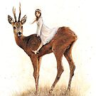 The Faery and the Deer by JBMonge