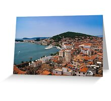 Split Harbour and Town Greeting Card