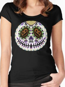 Sugar Skellington Women's Fitted Scoop T-Shirt