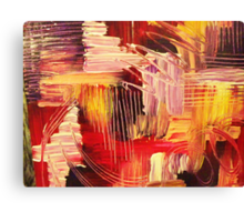 RHAPSODY IN MAGENTA- Beautiful BOLD Modern Abstract Wild Acrylic Painting Crimson Hot Pink Purple Canvas Print