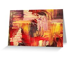 RHAPSODY IN MAGENTA- Beautiful BOLD Modern Abstract Wild Acrylic Painting Crimson Hot Pink Purple Greeting Card