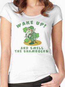 Funny Shamrocks Women's Fitted Scoop T-Shirt
