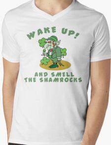 Funny Shamrocks Mens V-Neck T-Shirt