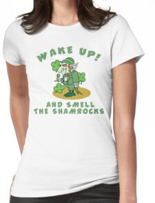 Funny Shamrocks Womens Fitted T-Shirt