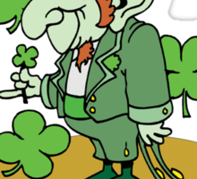 Funny Shamrocks Sticker