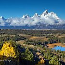 Dusted Grand Teton Range by A.M. Ruttle