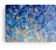 HYPNOTIC BLUE SUNSET - Simply Beautiful Royal Blue Navy Turquoise Aqua Sunrise Abstract Nature Decor Canvas Print