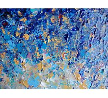HYPNOTIC BLUE SUNSET - Simply Beautiful Royal Blue Navy Turquoise Aqua Sunrise Abstract Nature Decor Photographic Print