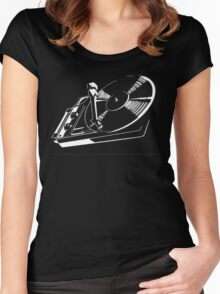 record player Women's Fitted Scoop T-Shirt