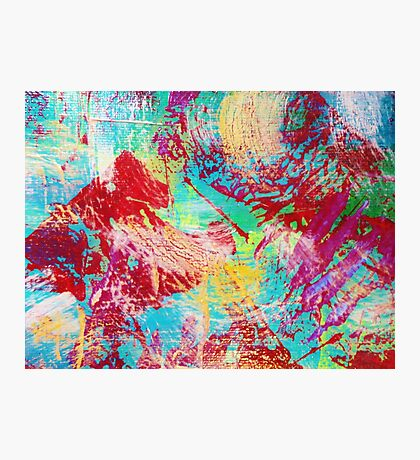 REEF STORM - Fun Bright BOLD Playful Rainbow Underwater Ocean Coral Reef Aquatic Life Photographic Print
