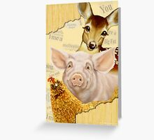 Farmyard Politics Greeting Card