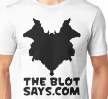 The Blot Says... Logo (Black) Unisex T-Shirt