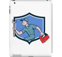 Mechanic Spanner Toolbox Running Crest Cartoon iPad Case/Skin