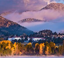 Lake Estes Sunrise and The Stanley by Teresa Smith