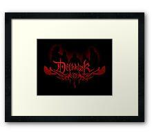 Heavy metal band shadow Framed Print