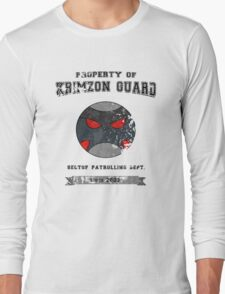 Property of Krimzon Guard (Black Text) Long Sleeve T-Shirt