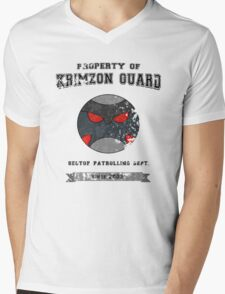 Property of Krimzon Guard (Black Text) Mens V-Neck T-Shirt