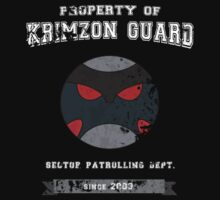 Property of Krimzon Guard (White Text) by Tgarncarz