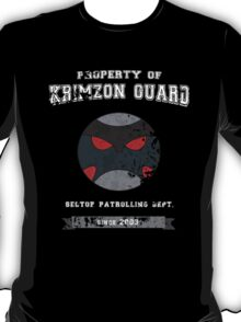 Property of Krimzon Guard (White Text) T-Shirt