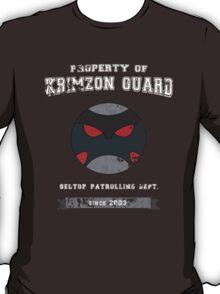 Property of Krimzon Guard (White Text) T-Shirt