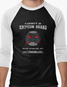 Property of Krimzon Guard (White Text) Men's Baseball ¾ T-Shirt