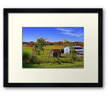Autumn on the Farm Framed Print
