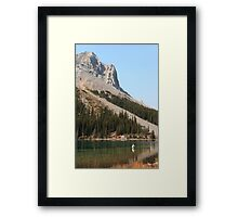 Elbow lake fishing Framed Print