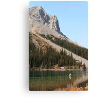 Elbow lake fishing Canvas Print