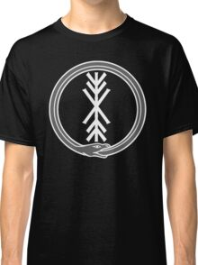 runic tree of life with world serpent Classic T-Shirt