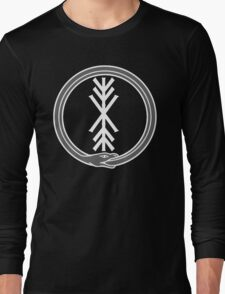 runic tree of life with world serpent Long Sleeve T-Shirt