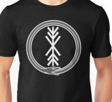 runic tree of life with world serpent Unisex T-Shirt